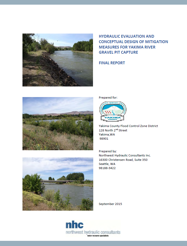NHC Hydraulic Final Report Cover Page Picture