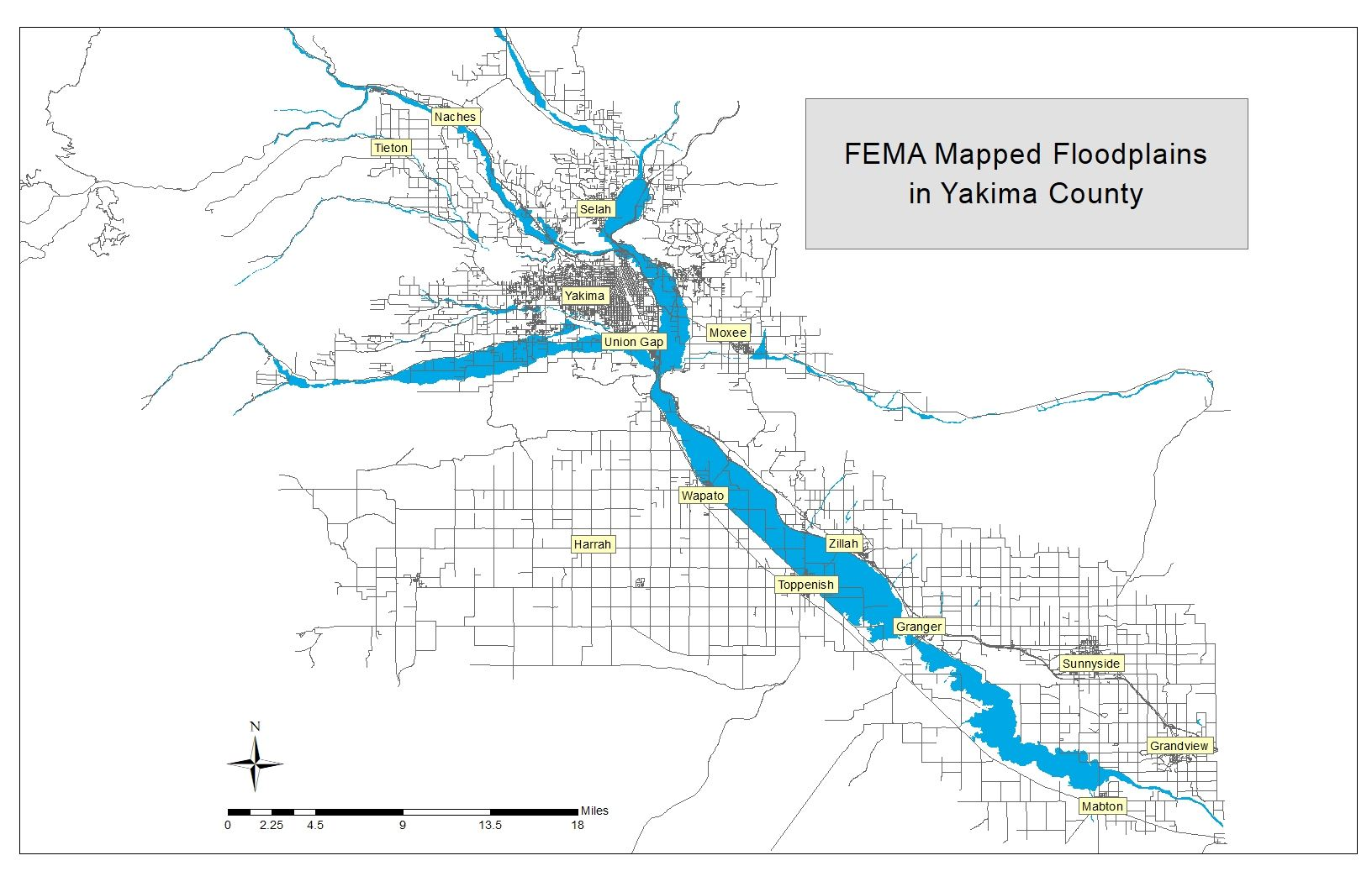 FEMA Mapped Floodplains in Yakima County.emf