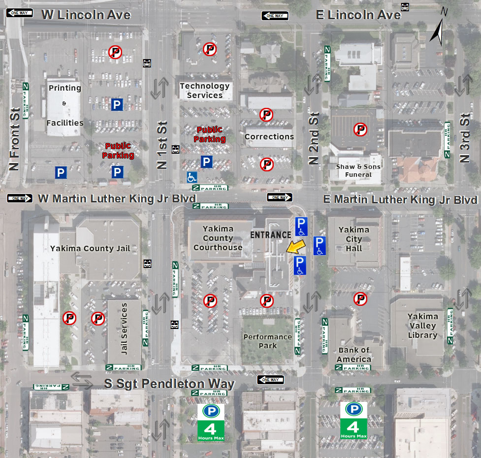 Parking Map  - Yakima County Courthouse