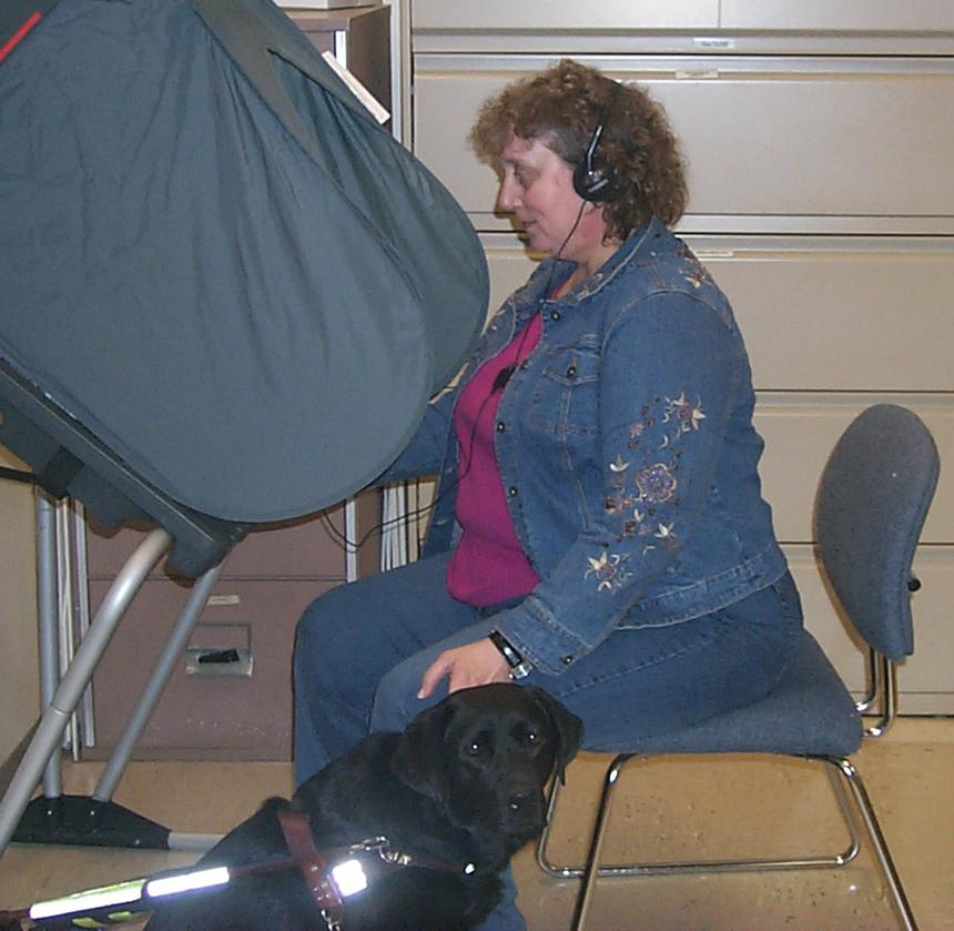Blind Person Voting