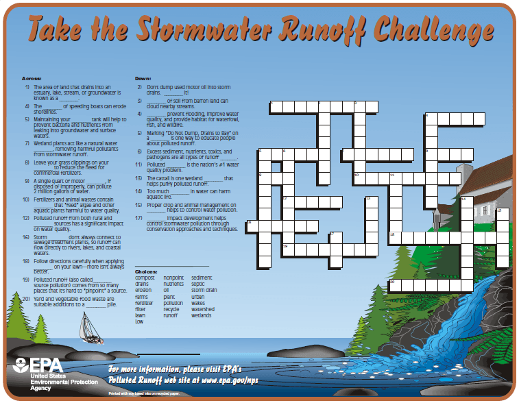 Stormwater Crossword Puzzle Picture