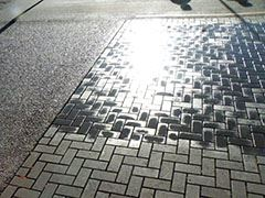 Permeable Pavers wet