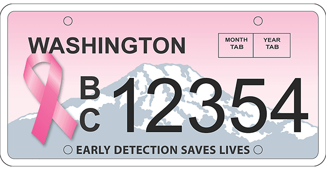 washington-breast-cancer-license-plate
